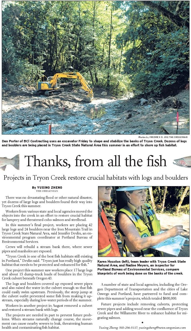 """Thanks From All the Fish"" Yuxing Zhen The Oregonian"
